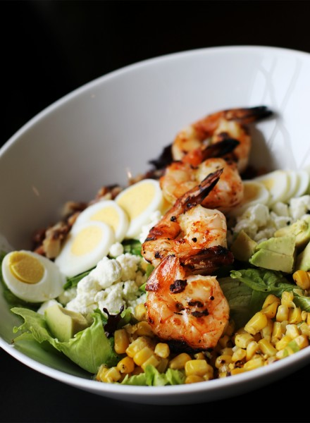 Shrimp cobb salad at Victory House restaurant at Epicenter in santa rosa. Heather Irwin/PD