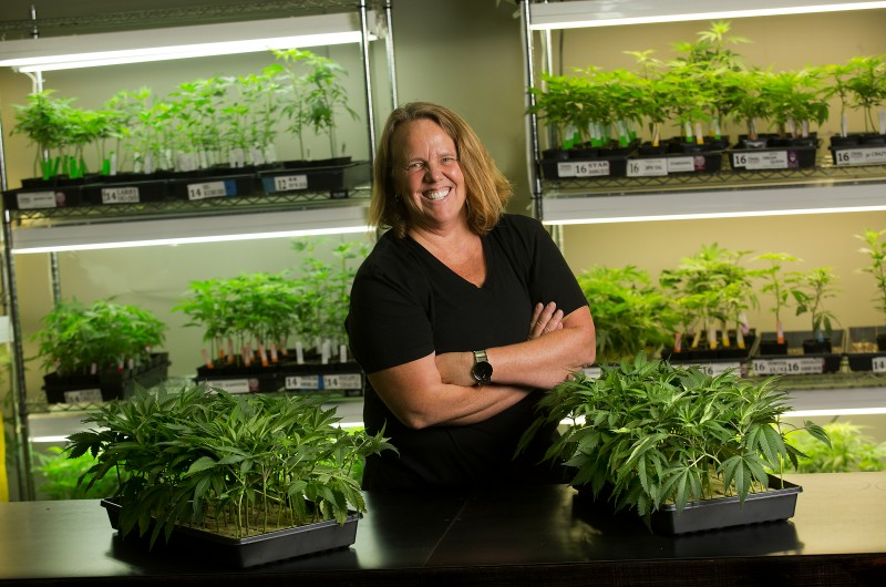 Dona Frank opened one of Sonoma County's first medical marijuana dispensaries and now runs multiple dispensaries stretching from Oakland to Hopland. (John Burgess)