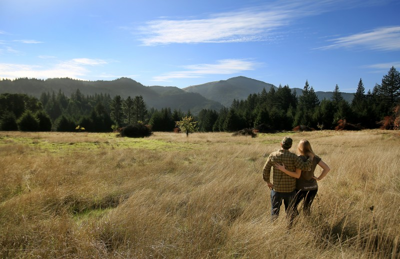 Jessica Rockenbach and her partner, Kris Schuster, came to the valley as tenant cannabis farmers but plan to grow a range of crops, including marijuana, on a 60-acre parcel they bought. (Kent Porter)