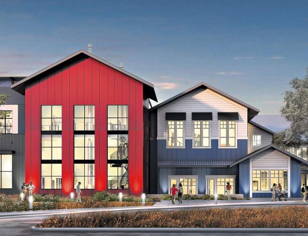 A sketch of what Russian River Brewing Co.'s new brewery and brewpub in Windsor will look like when it opens in 2018. (COURTESY OF RUSSIAN RIVER BREWING CO.)