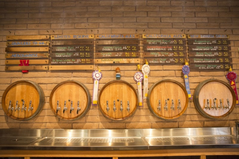 Sonoma Springs taproom. (Photo courtesy of Sonoma Springs)