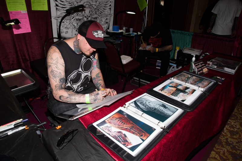 at the Tattoo & Blues Festival at the Flamingo Hotel in Santa Rosa.