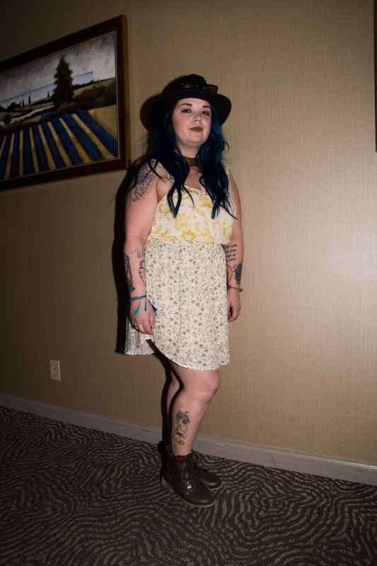 Summer Sinnette shows her favorite leg tattoo
