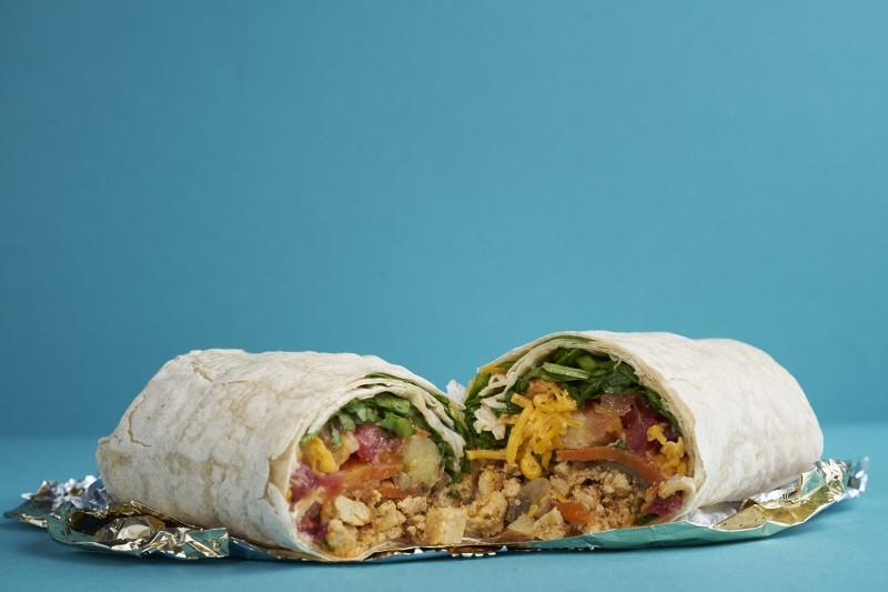 Amy's Drive Thru's Breakfast Burrito.
