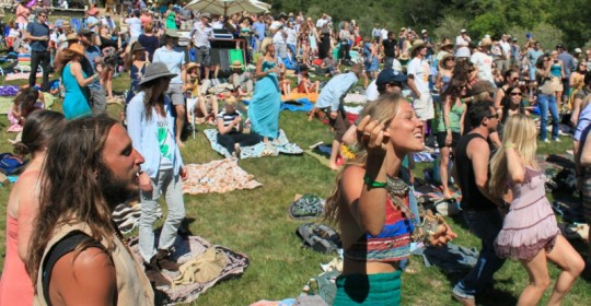 Audience at the Gundlach Bundschu Huichica music festival at the winery in Sonoma. 2013 Photo: JOHN CAPONE