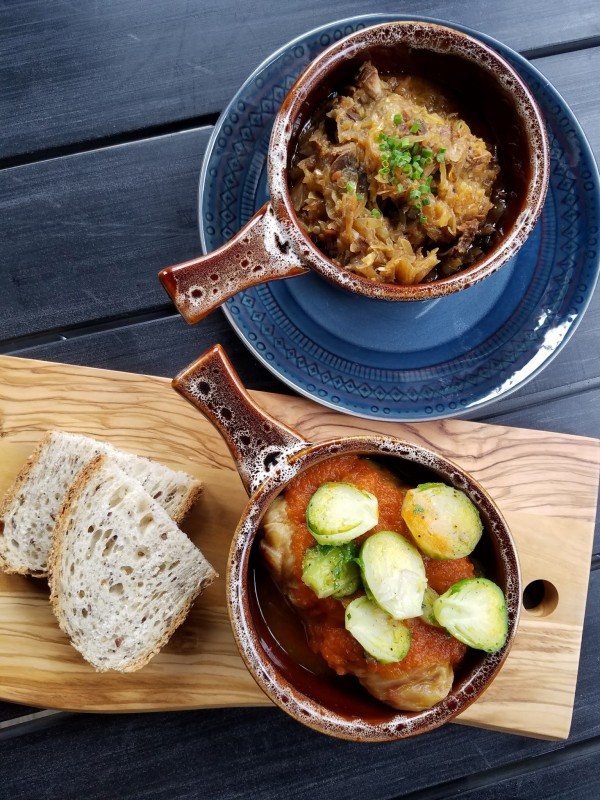 Bigos, a traditional Polish stew with meats and spices, and Cabbage Rolls at Zosia Cafe and Kitchen in Graton. Heather Irwin/PD