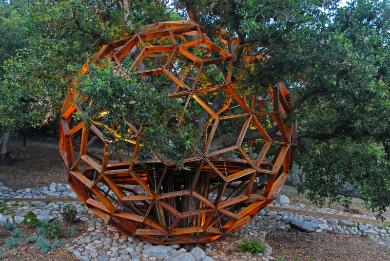 "Robby Kreiger of the Doors has a ""Honey Sphere"" in is garden"