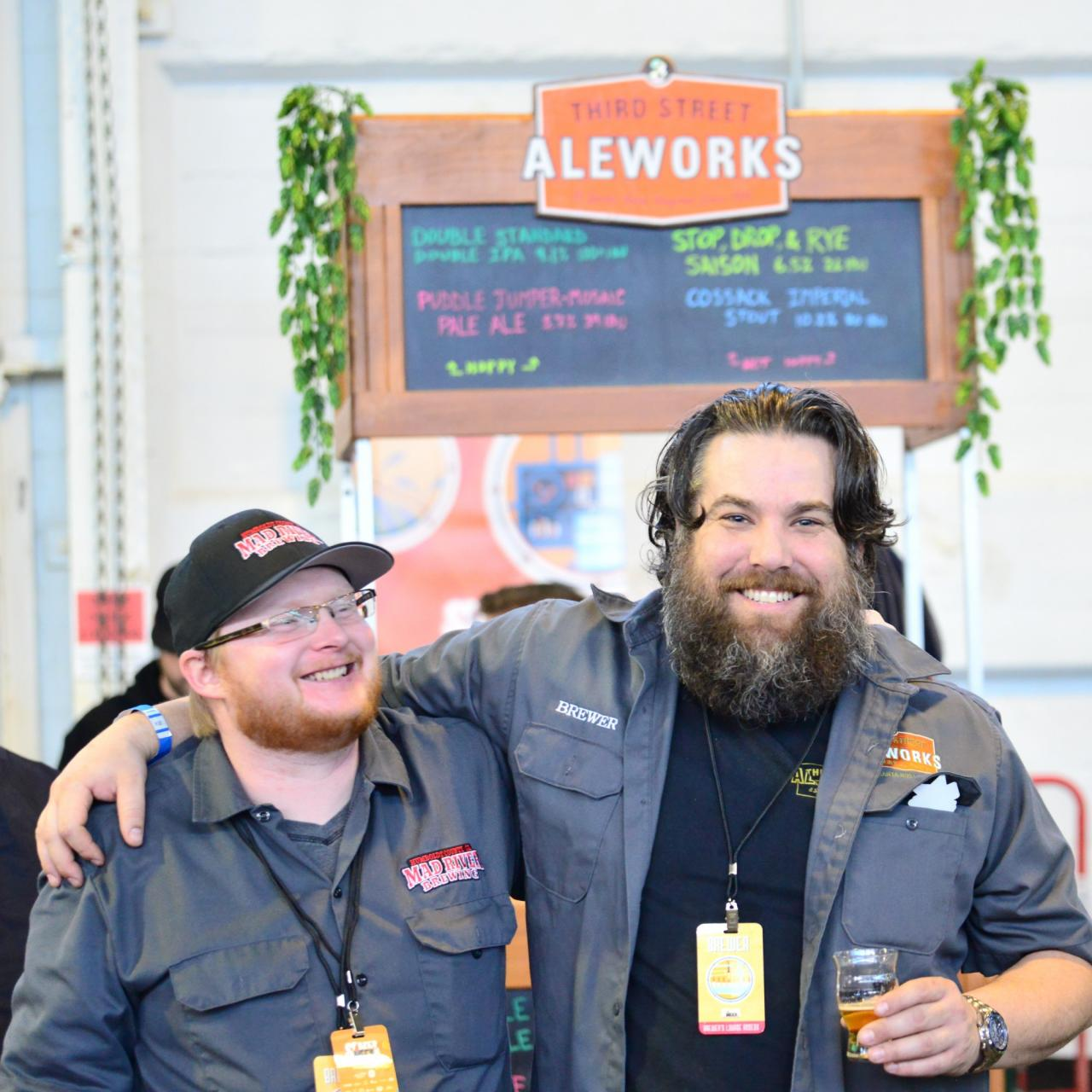 Brewer, Adam De la Montanya and his crew have fun pouring their beers from Third Street Aleworks.