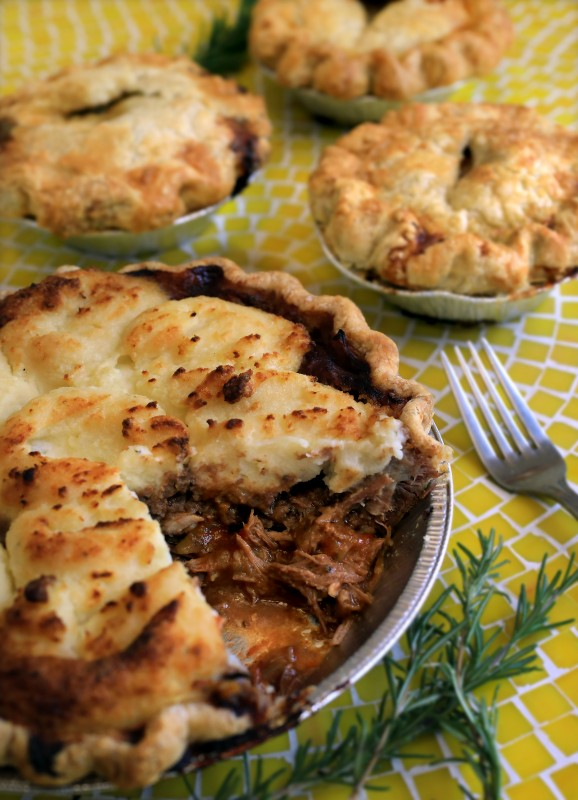 The LoneWolf, a savory pie made with beer-braised beef ribs, onions, beef stock and rosemary from The Whole Pie in Santa Rosa. (John Burgess/The Press Democrat) John Burgess