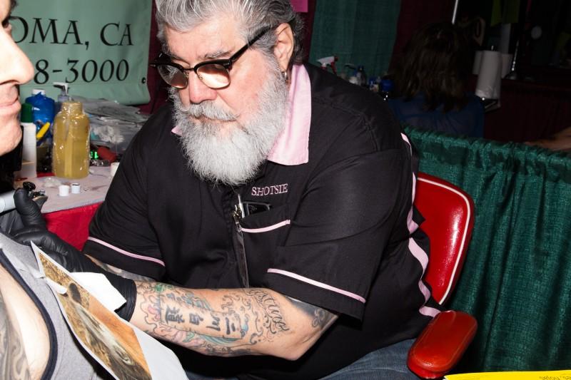 Tattoo artist Shotsie Gorman