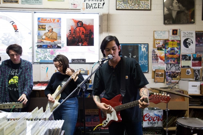 The Down House plays at The Last Record Store in Santa Rosa.