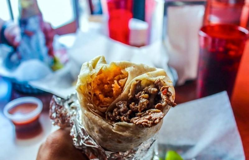 Burrito at El Roy's in Petaluma. (If Photography)