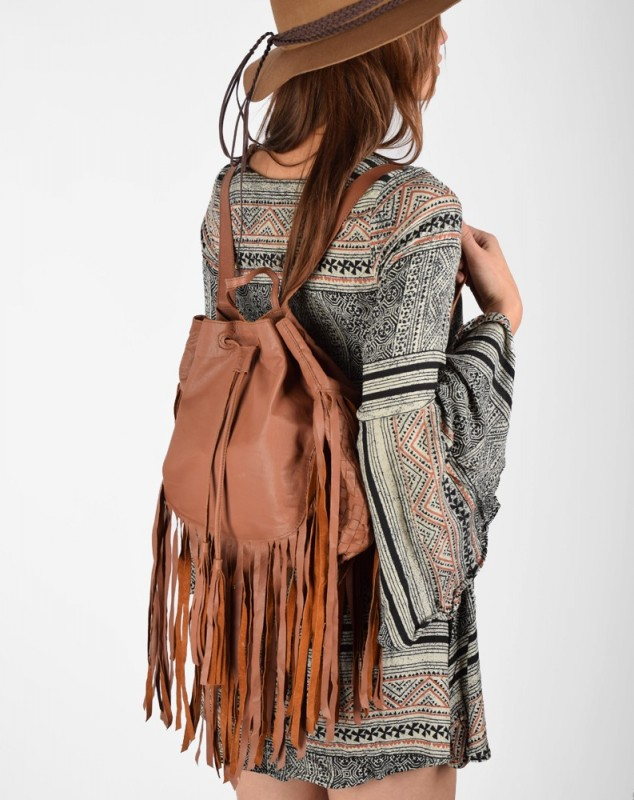 Cleobella Fringe Backpack at
