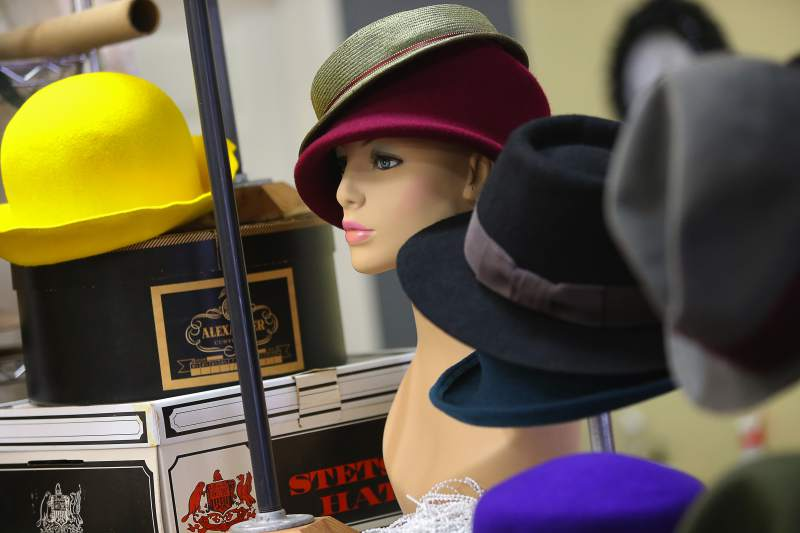 Display at Portobello Hats in Santa Rosa. (Christopher Chung)
