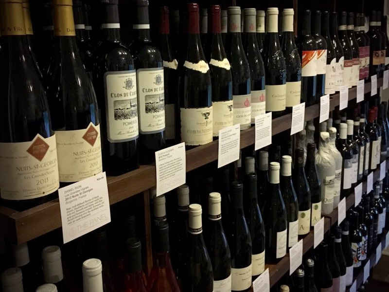 A selection of Wines at The Panel wine shop in Sonoma.