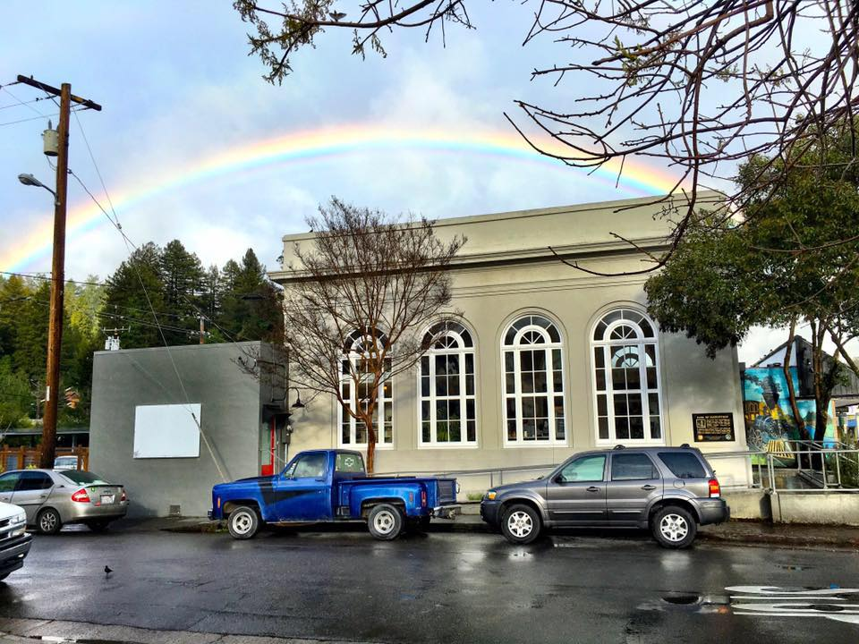 The Bank Club Wine Collective's tasting room is located at the Historic Bank of Guerneville (Photo courtesy of the Bank Club)