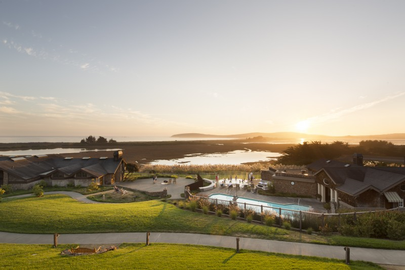 Watch the sunset from your patio - or by the pool - at Bodega Bay Lodge (Photo: Paul Dyer)