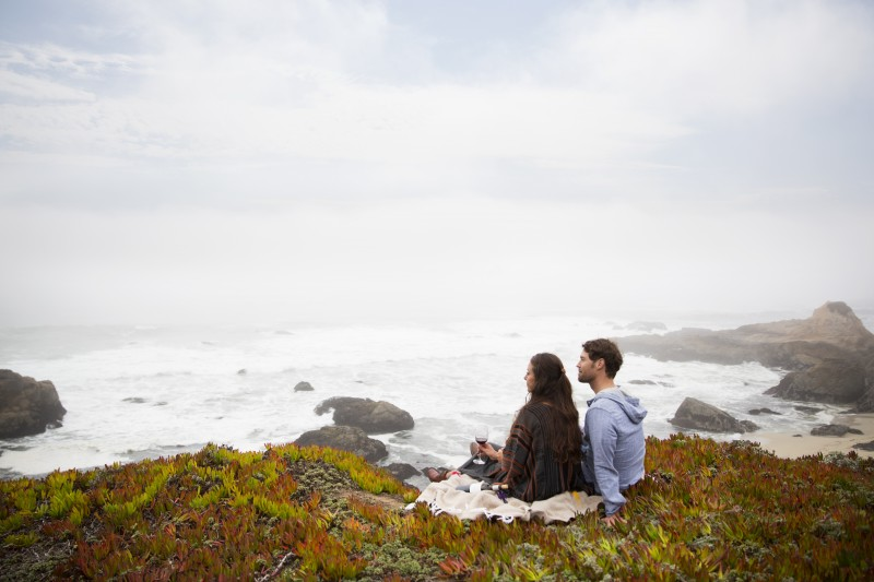 Spring is here, which means cliffside picnics in Bodega Bay (Photo: Paul Dyer)