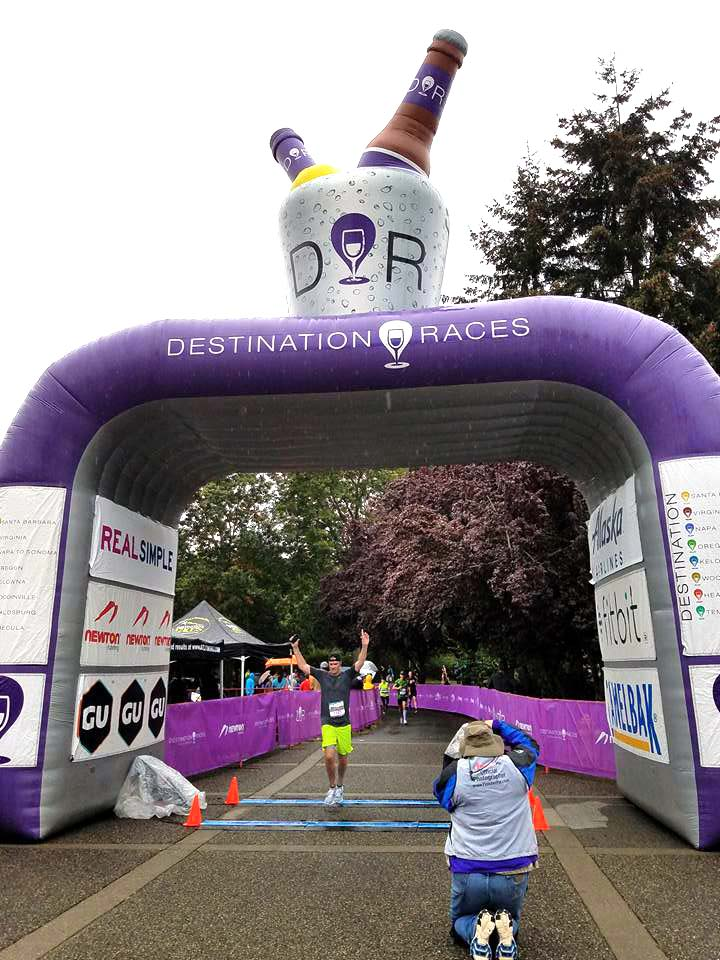 The beer arch runners will pass through at the IPA 10K in Sebastopol. (Courtesy of Destination Races)