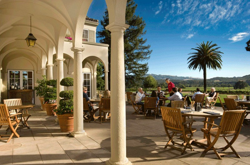 Chateau St. Jean Chateau St. Jean's patio offers the best view in the Valley