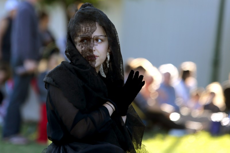 The Imaginists performed The Butterfly's Evil Spell/ El Malefic de la Mariposa, a play by Federico Garcia Lorca at Martin Luther King, Jr. Park in Santa Rosa, Friday, July 24, 2015. (Crista Jeremiason /
