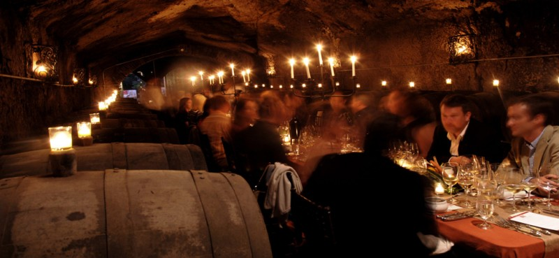 Dining in the caves at Buena Vista Winery, Sonoma, California