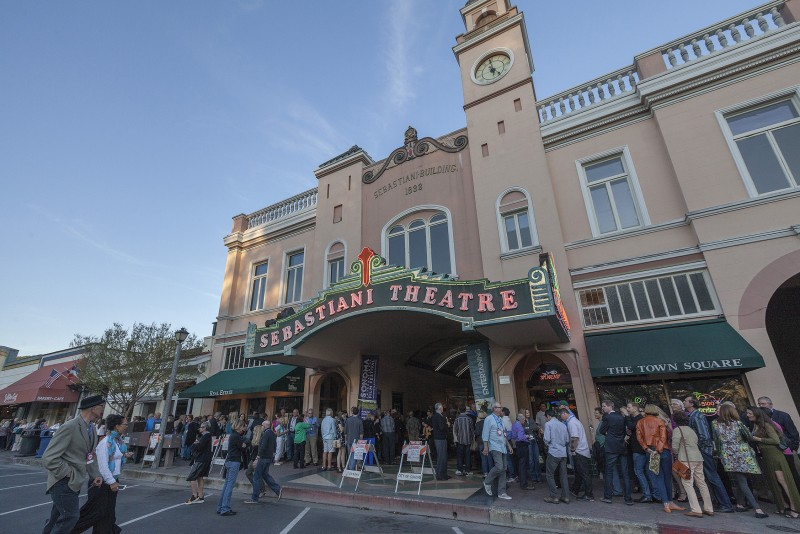 Opening night of the annual Sonoma International Film Festival at the Sebastiani Theater in Sonoma. (Robbi Pengelli)
