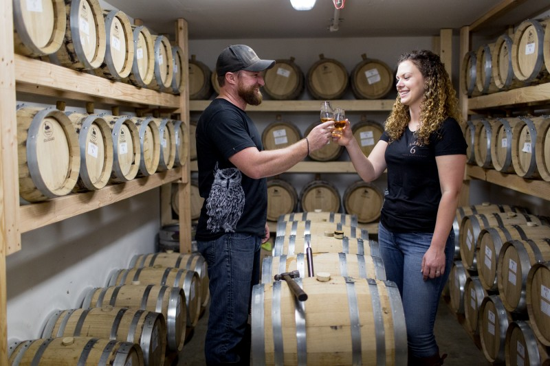 Jason and Krystle Jorgensen, of Alley 6 Craft Distillery, fell in love with the whiskey-making process after a trip to Scotland (Photo courtesy of Alley 6 Craft Distillery)