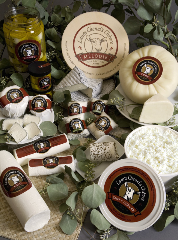 A selection of cheeses from Laura Chenel