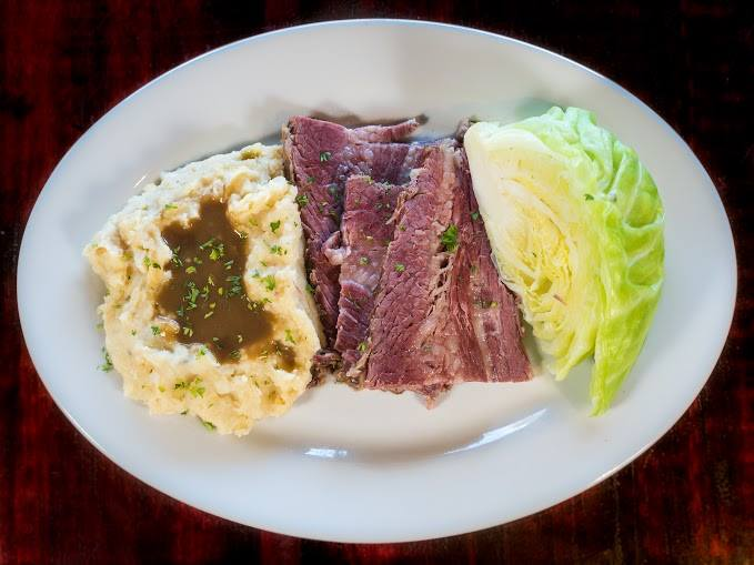 Stout Brother's Irish Pub is regarded for their authentic Irish pub grub, including the iconic St. Patrick's Day staple of corned beef and cabbage (Photo courtesy of Stout Brother's Irish Pub)