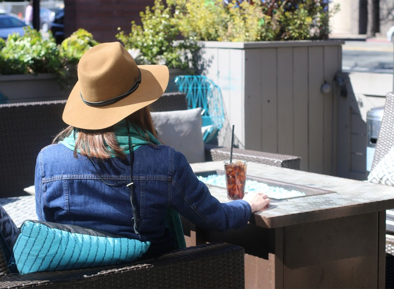 Patio at Bibi's Burger Bar i Santa Rosa. Heather Irwin