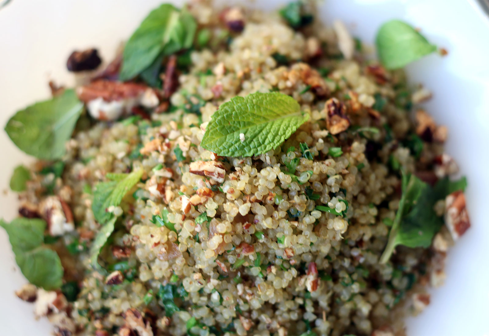 Quinoa pilaf at Flower + Bone restaurant in Santa Rosa. Heather Irwin/Sonoma Magazine.