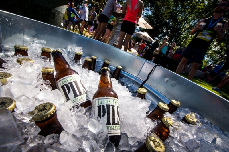 Lagunitas Brewing Company beer at a party