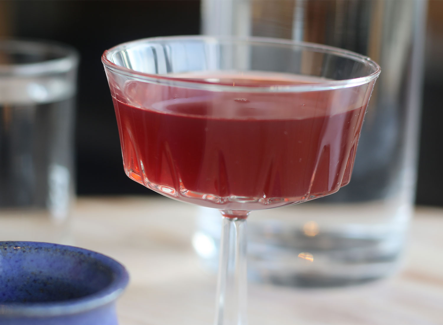 Plum hooch at Flower + Bone restaurant in Santa Rosa. Heather Irwin/Sonoma Magazine.