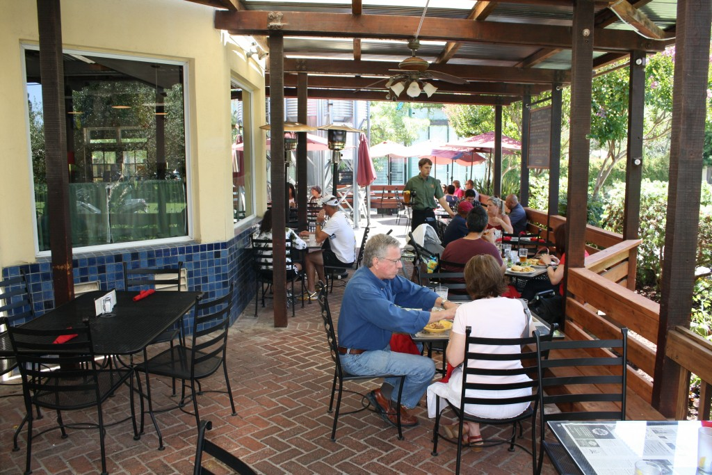 Patio at Bear Flag Republic Brewing Co. in Healdsburg, California