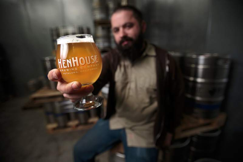 Collin McDonnel, Brewer of HenHouse Brewery. (Press Democrat)