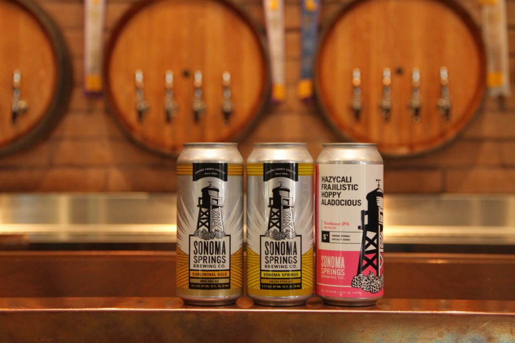 Canned beers from Sonoma Springs Brewing Co.