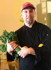 Rob Hogencamp of Three Leaves Community Supported Kitchen in Santa Rosa. Heather Irwin/PD