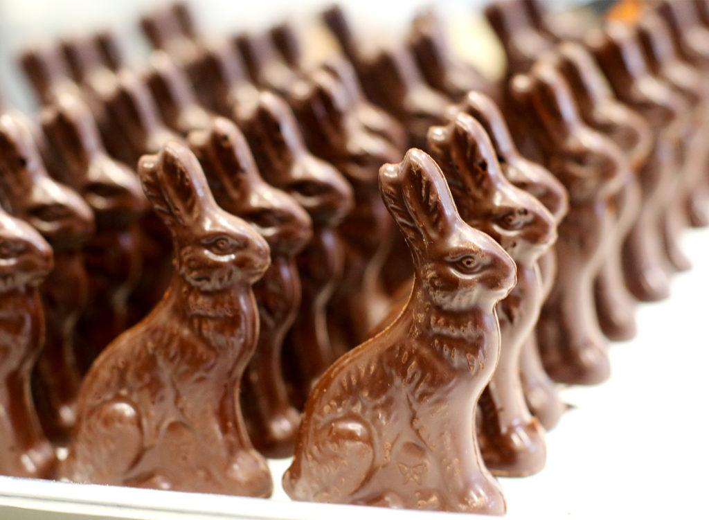 Tiny Windsor Chocolate Factory Creates a Chocolate Bunny Brigade