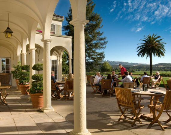Patio at Chateau St. Jean in Sonoma, California