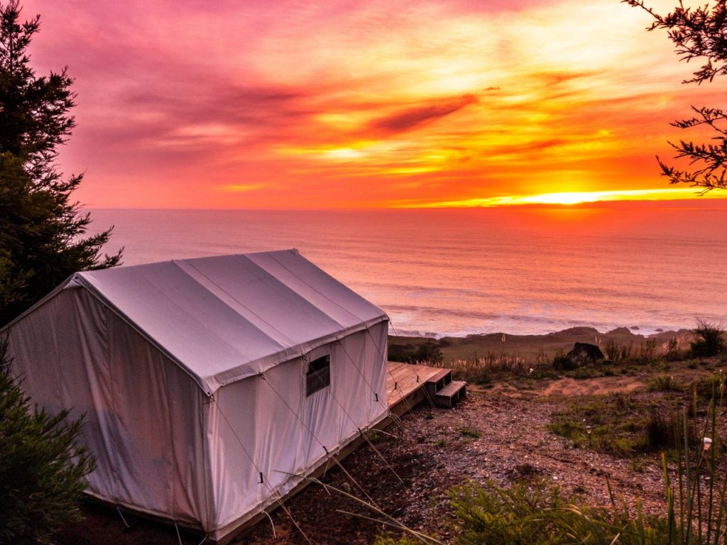 New Glamping Site Offers Luxury Experience On The Sonoma Coast