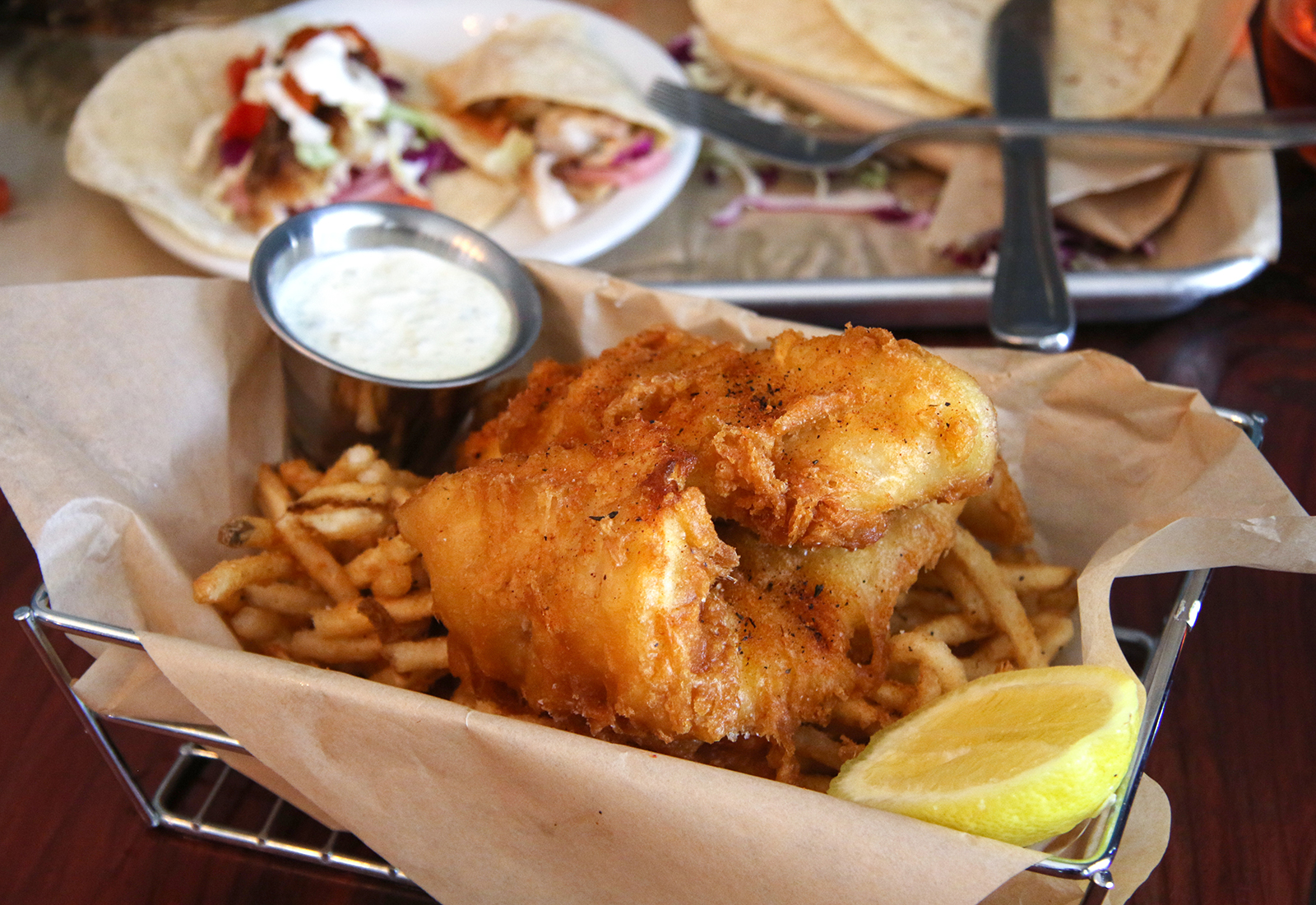 Fish and chips at Reel Fish Shop & Grill in Sonoma. Heather Irwin/PD