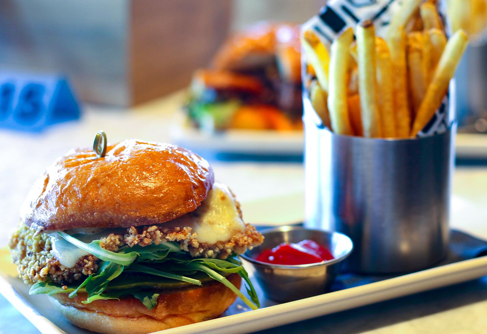 Schitzel sandwich at The Golden Pig in Hopland Heather Irwin/PD