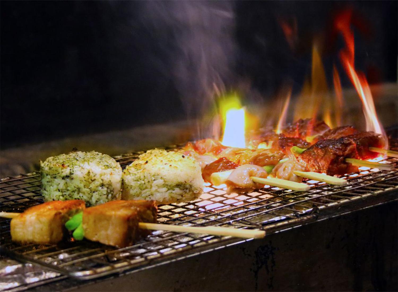 JAPAN, Ramen Gaijin in Sebastopol: Izakaya (grilled meats) and rice. Heather Irwin/PD