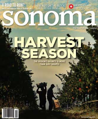 Sonoma Magazine Cover Sept/Oct 2017
