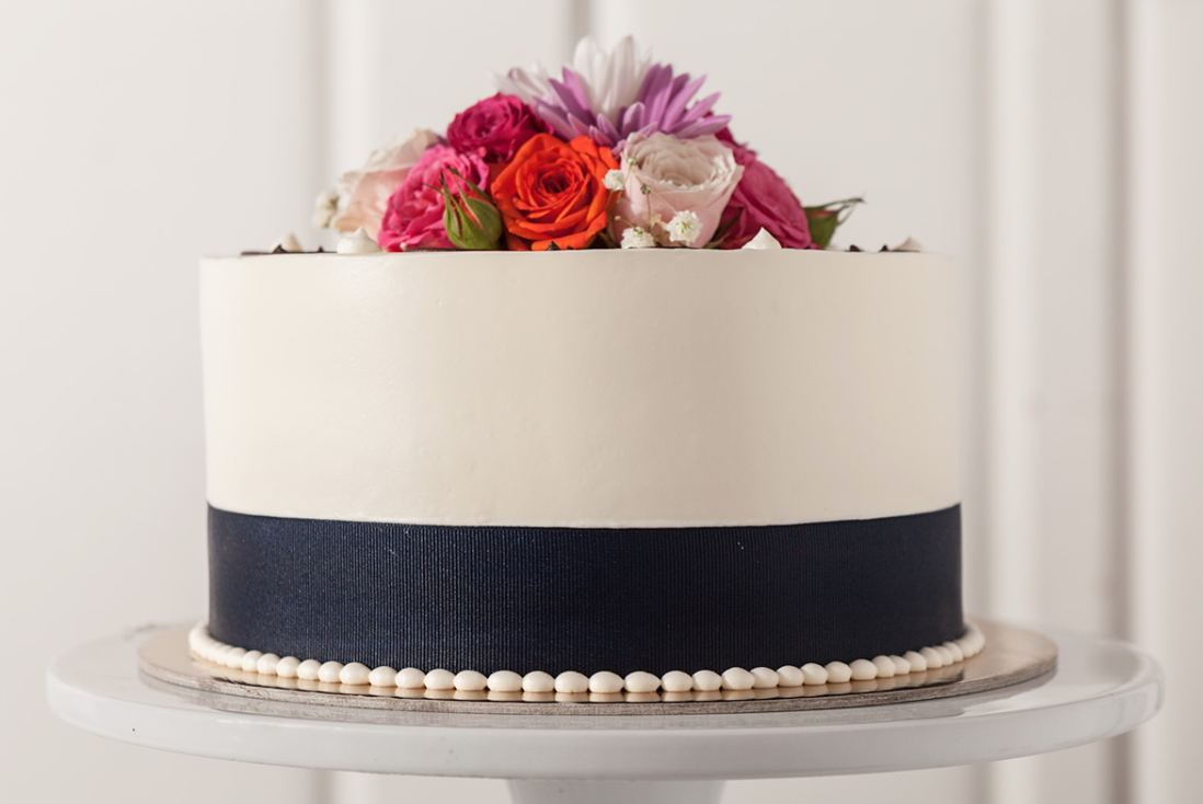 Wedding cake from Costeaux Bakery in Healdsburg. Courtesy photo.