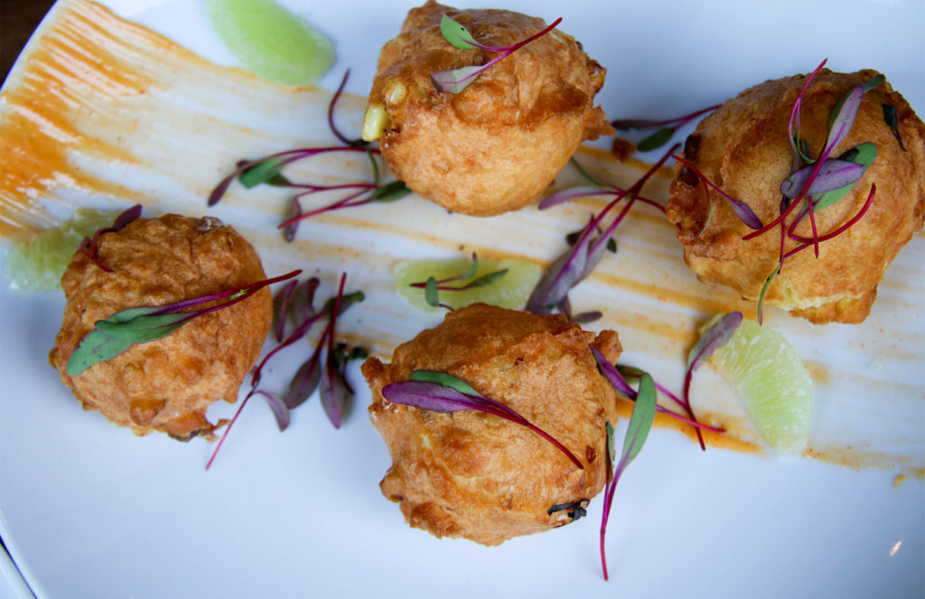 Corn fritter at 2 Tread Brewing Company in Santa Rosa. Heather Irwin/PD
