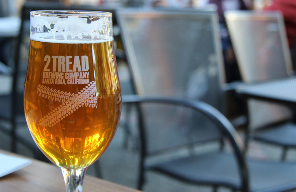2 Tread Brewing Company opens a craft brew and pub with a large patio where you can ride up on your bike for a pint. Heather Irwin/PD
