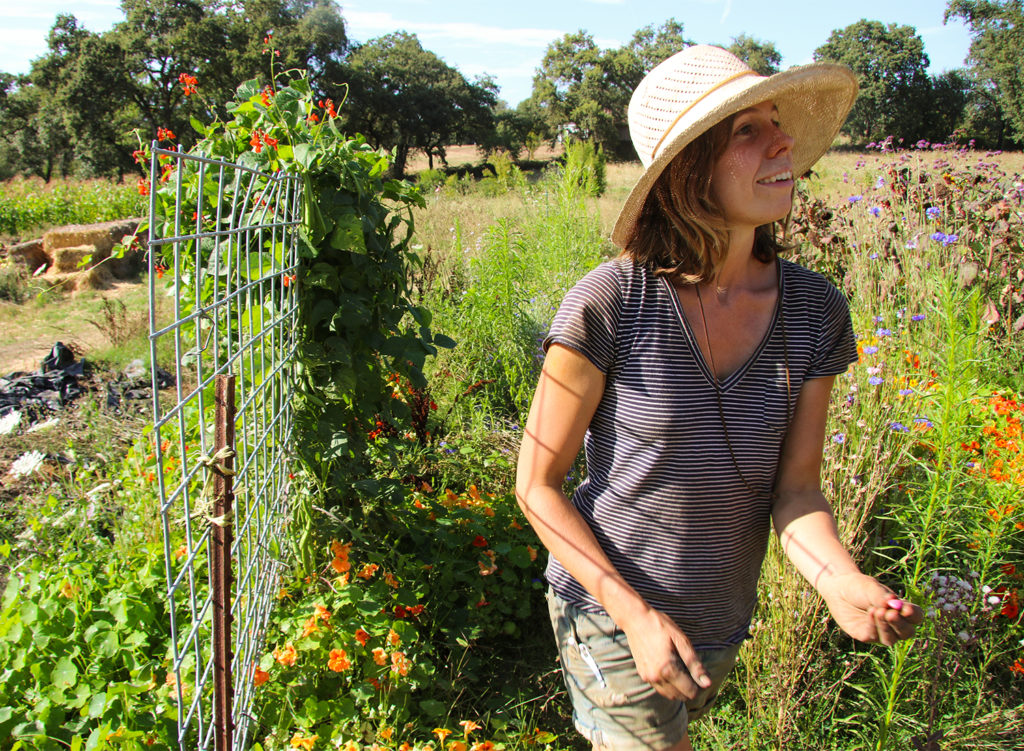 Farmer Kayta Brady at the Russian River Vineyards Farm i Forestville. The 1 acre farm provides much of the restaurant's produce. Heather Irwin/PD