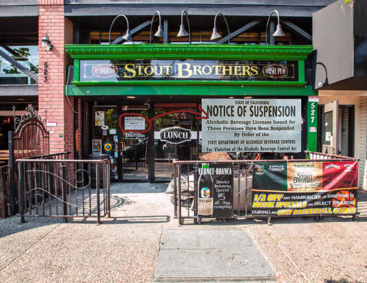 Downtown Santa Rosa Bar Closed for Rehab